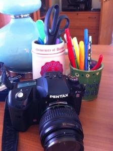 pens and my camera